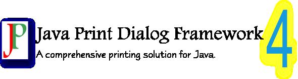 Java Print Dialog Framework